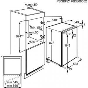 Electrolux LUB3AE88S congelatore Da incasso Verticale 98lt 4 cassetti h88