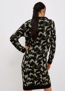 LIU JO TF1202MA59L Vestito corto camouflage in lurex®