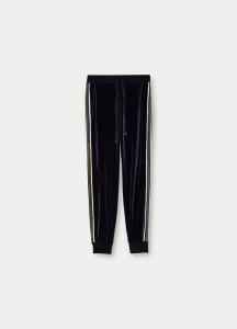 LIU JO TF1242J6259 Pantalone in ciniglia con borchie