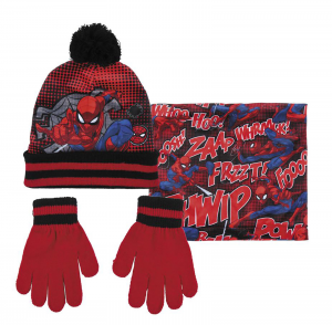 Cappello + Scaldacollo + Guantini Spiderman Veste da 3 a 8 Anni Inverno 2022