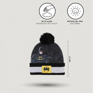 Cappello con guantini e scaldacollo Batman