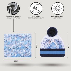 Cappello con Scaldacollo e guantini Frozen Veste da 3 a 8 Anni Inverno 2021-22
