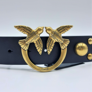 Cintura Love Maxy Studs Belt H4 nera Pinko