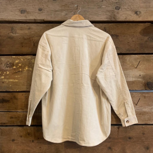Giacca Dr.Denim Mona Overshirt in Velluto Off White