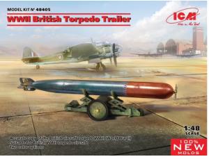 WWII British Torpedo and Trailer
