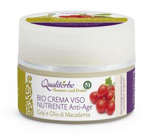 Bio Crema Viso Anti-Age nutriente 100% Naturale by Qualiterbe