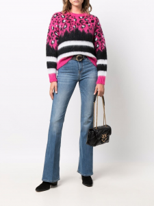 SHOPPING ON LINE PINKO PULLOVER MACULATO E A RIGHE BARILOT NEW COLLECTION WOMEN'S FALL/WINTER 2022