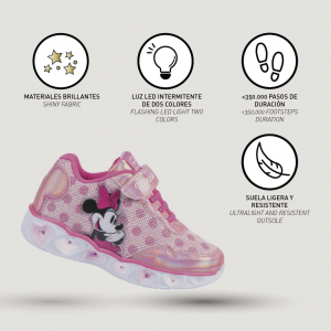 Scarpe Minnie con luci Bambina dal 23 al 30 Disney Autunno Inverno 2021 2022