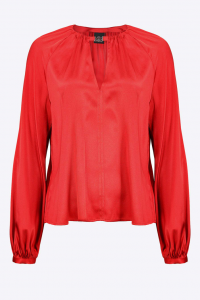 SHOPPING ON LINE PINKO  BLUSA A MANICHE LUNGHE IN STIN STRETCH FAMATINA NEW COLLECTION WOMEN'S FALL/WINTER 2022-2