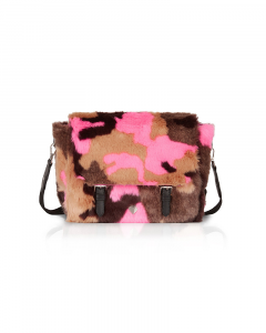SHOPPING ON LINE LE PANDORINE LISA FREDDO FUR FUXIA CAMOUFLAGE NEW COLLECTION WOMEN'S FALL/WINTER 2022