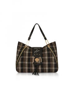 SHOPPING ON LINE LE PANDORINE VICKY BABE SCLERA TARTAN BLACK NEW COLLECTION WOMEN'S FALL/WINTER 2022