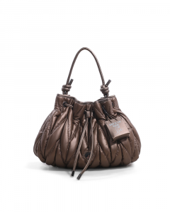 SHOPPING ON LINE LE PANDORINE CLAUDIA BUCKET LOVE BROWN NEW COLLECTION WOMEN'S FALL/WINTER 2022