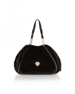 SHOPPING ON LINE LE PANDORINE VICKY BUCKET MONTAGNA FUR BLACK NEW COLLECTION WOMEN'S FALL/WINTER 2022