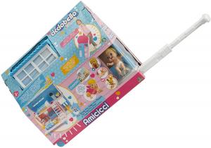 Cicciobello Amicicci Casa Trolley, un playset che diventa trolley con Mini Personaggio e un cucciolo inclusi, a partire dai 3 anni di età, Giochi Preziosi, Multicolore, CC012000