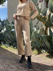 Pantalone in maglia a trecce Vicolo