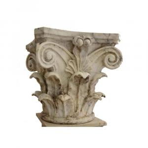 Capitello corinzio in marmo Bianco Carrara artigianato italiano