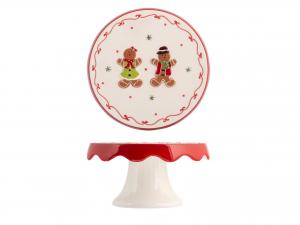 H&h Gingerbread Alzata, Ceramica, 20cm