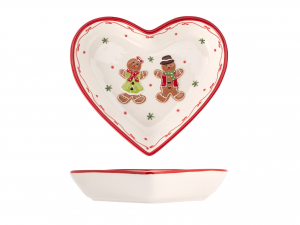 H&h Gingerbread Piatto Cuore, Ceramica