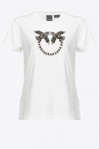 T-shirt Quentin ricamo Love Birds Pinko