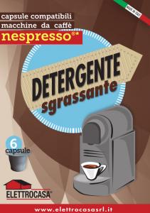 Elettrocasa AS47 Detergente Sgrassante Compatibile Nespresso