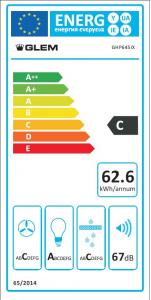 Glem Gas GHP645IX cappa aspirante Integrato Argento, Acciaio inossidabile 498 m³/h C