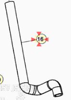 29.15698.000 TUBO RADIATORE SUPERIORE MOTOCICLI BETA RR 50 MOTORE MINARELLI AM 6