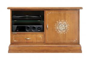 TV Schrank Midi 1 Tür und 1 Schublade – Fleur Kollektion