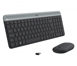 Logitech Slim Wireless Combo MK470 tastiera RF Wireless QWERTY Italiano Grafite
