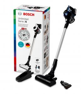 Bosch BBS611PCK scopa elettrica senza filo Senza sacchetto Blu, Argento