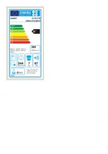 Candy CSO4 H7A1DE-S asciugatrice Libera installazione Caricamento frontale 7 kg A+ Bianco