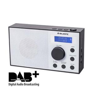 New Majestic RT-193 DAB Portatile Analogico e digitale Nero, Bianco