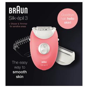 Braun Silk-épil 3 Nuovo SE 3-440 Set Per Le Prime Epilazioni 3-In-1 Epilatore Donna