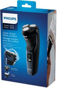 Philips Norelco Shaver 3100 Rasoio elettrico Wet o Dry, Serie 3000