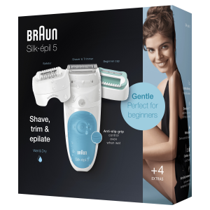 Braun Silk-épil 5 Wet&Dry Silk-épil SE5610, Epilatore Elettrico Donna Per I Primi Utilizzi