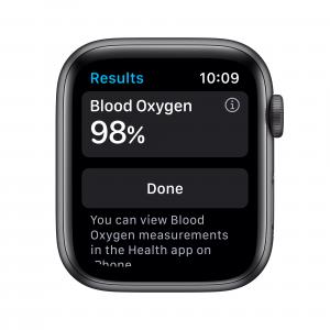 Apple Watch Serie 6 GPS, 44mm in alluminio grigio siderale con cinturino Sport Nero