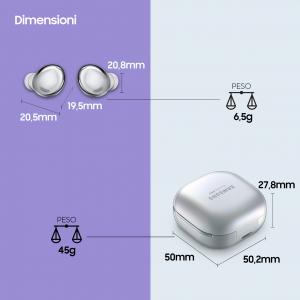 Samsung Cuffie Auricolari Wireless Galaxy Buds Pro Phantom Silver