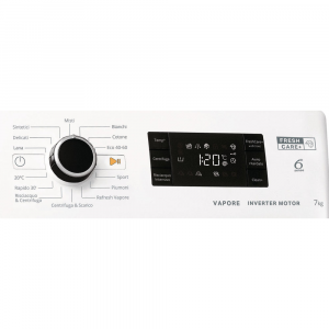 Whirlpool FSB 723V BS IT N lavatrice Caricamento frontale 7 kg 1200 Giri/min D Bianco