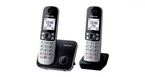 Panasonic KX-TG6852JTB telefono Telefono DECT Identificatore di chiamata Nero, Grigio