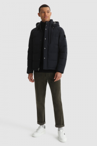 SHOPPING ON LINE WOOLRICH GIACCA SIERRA GREEN IN COTONE ORGANICO E NYLON RICICLATO  NEW COLLECTION FALL/WINTER 2022