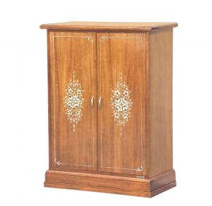 Mueble zapatero de 2 puertas con decoración floral - Colección Fleur