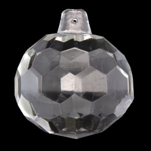 Sfera sfaccettata in cristallo antico di Boemia Ø60 mm colore cristallo trasparente. Pendente per lampadari antichi vintage.