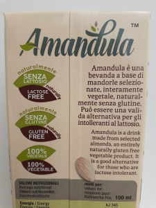 Latte di Mandorla Amandula 1 lt Ditta Caracciolo di Brancaleone (RC)
