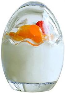 Scatola in vetro trasparente a forma di uovo