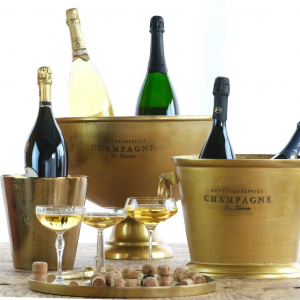 Spumantiera coppa Champagne, in alluminio anodizzato oro, per 6 8 bottiglie