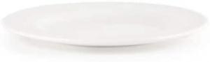 Piattino pane classico in porcellana bianca