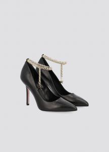 Decolleté Marilyn in nappa nera con cavigliera Liu Jo