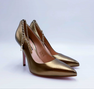 Decolleté Marilyn in nappa bronzo con cavigliera Liu Jo