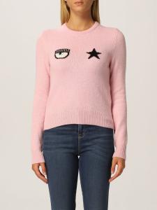 Maglioncino rosa logo davanti di Chiara Ferragni