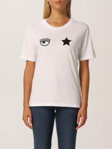 T-shirt bianca con logo di Chiara Ferragni