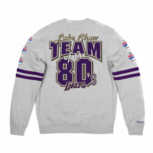 Mitchell&Ness Felpa Crew Los Angeles Lakers